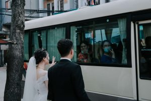 Bus for wedding guests
